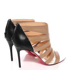 christian louboutin kid leather beauty k 85 cage pumps 38 5 beige