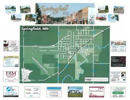 springfield map springfield brochure city map springfield minnesota chamber of