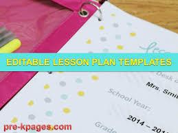 printable lesson plan templates youtube