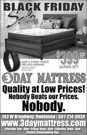 friday sale 3 day mattress owatonna mn
