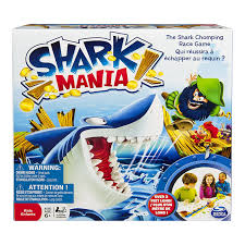 amazon com spin master games shark mania board game toys u0026 games