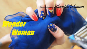 nail art halloween super hero wonder woman youtube