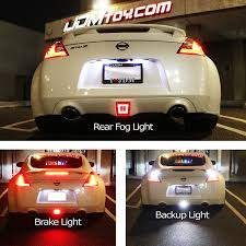 nissan gtr tail lights amazon com ijdmtoy jdm style rear fog light led assembly for 2009