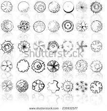 Symbols For - set treetop symbols architectural landscape design stock vector