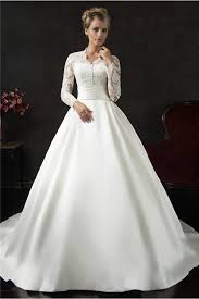 Discount Vintage Wedding Dresses U0026 Bridal Gowns Queen Of Victoria Vintage Ball Gown Long Sleeve Lace Satin Wedding Dress With