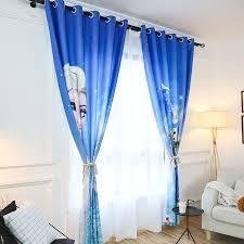 deco chambre reine des neiges rideaux asymétriques bleu la reine des neiges le marché du rideau