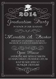 college graduation invitations chalkboard graduation invitations college or high school