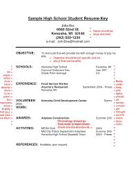 basic resume exles for highschool students resume high exle fungram co