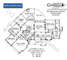 cottage house floor plans amicalola cottage house plan house plans by garrell associates inc