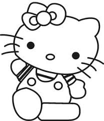 easy kitty coloring pages coloring kids