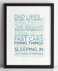 personalized dad gift poster of things your dad likes