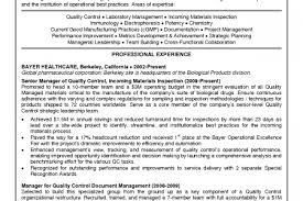 Quality Manager Resume Sample by Plant Controller Resume Examples Reentrycorps