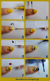 10 easy step by step minion nail art tutorials for beginners