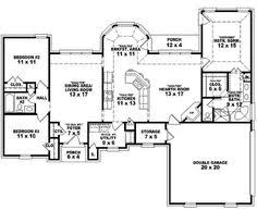 3 Bedroom 2 Bath House Floor Plans First Floor Plan Of Ranch House Plan 54075 Finished Basement 2