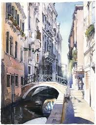 urban paintings watercolor artworks by artist vladislav yeliseyev