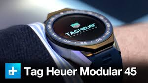tag heuer watches tag heuer connected modular 45 smartwatch hands on review youtube