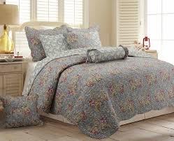 cozy line home fashion floral paisley 3 piece reversible quilt set