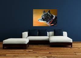 Dog Home Decor by Dog Portrait Animal Portrait Dog Painting Animal Painting Oil
