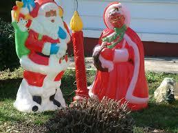 black santa and mrs clause americana lawn decor flickr