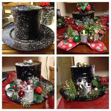 snowman hat u0027s black spray paint coffee can plastic plate