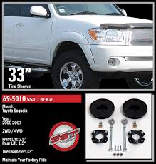 toyota sequoia lifted pics amazon com readylift 69 5010 2 5 f 1 5 r sst lift kit for toyota