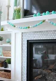 Living Room Decor For Easter Simple Easter Mantel Decor The Happy Housie