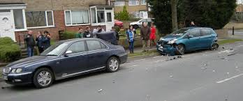 vauxhall colton five cars damaged after police chase ends in smash outside lower