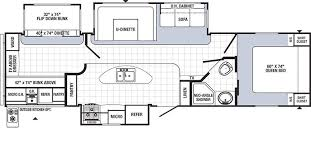 triple bunk travel trailer floor plans puma 32dbks triple slide out triple bunks bunkhouse travel trailer