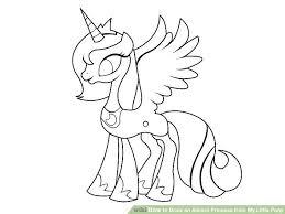 draw alicorn princess pony 8 steps