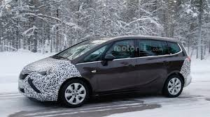 opel minivan 2017 opel zafira spied with more conventional headlights