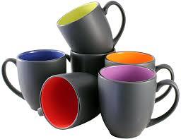 Ceramic Coffee Mugs Amazon Com Iti Ceramic Bistro Hilo Coffee Mugs With Pan Scraper