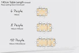 rectangle dining table sizes table seating planner