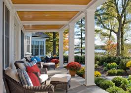 Outdoor Patio Ceiling Ideas by Beadboard Porch Ceiling Porch Traditional With Patio Chairs Red