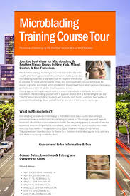 makeup courses in miami help spread the word about microblading course tour