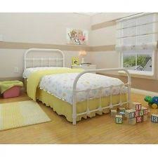 classic queen size metal bed frame cast iron sturdy bedroom