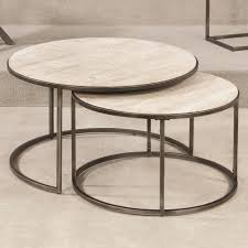 glass coffee table nest table interesting round silver nest of tables set 2 furniture