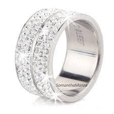 crystal pave rings images 6 row pave set swarovski crystal eternity stainless steel ring jpg