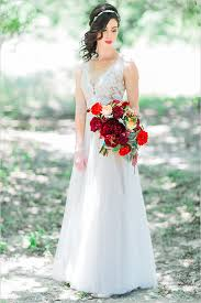 Red And White Wedding Dresses Modern Snow White Wedding Inspiration Bridalpulse