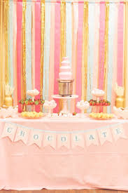 Pink And Gold Dessert Table by Pink Princess Birthday Party By Sienna Rose Photography Gold