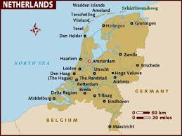 netherlands location in europe map map of netherlands