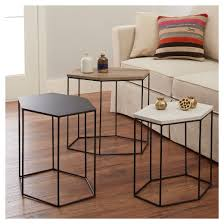 Hexagon Side Table Hexagonal Coffee Table New Of Meredith 3pk Hexagonal Accent Tables
