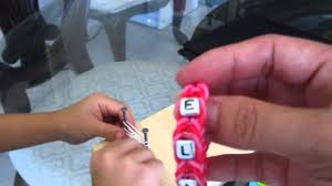 make bracelet with name images Make personalized name bracelet without a rainbow loom jpg