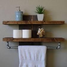 simply modern rustic bathroom shelf with 18