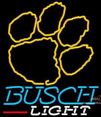 busch light neon sign busch light clemson university tiger print neon sign neonsigns usa inc