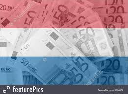 Flag Of Netherlands Flag Of Netherlands With Transparent Euro Banknote S In Background