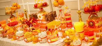 Wedding Candy Table Sweetdesigncompany Treats Sweet Design Company Autumn Wedding
