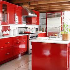 Red Kitchens With White Cabinets 15 Contemporary Kitchen Designs With Red Cabinets Rilane