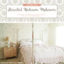 Shabby Chic Stencils by A Shabby Chic Stenciled Bedroom Makeover Stencil Stories