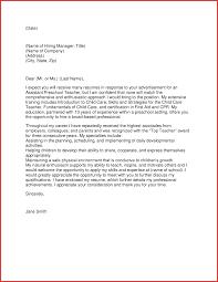 kindergarten teacher cover letter sample choice image letter