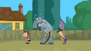 Phineas And Ferb Backyard Beach Game Robot Rodeo Song Phineas And Ferb Wiki Fandom Powered By Wikia